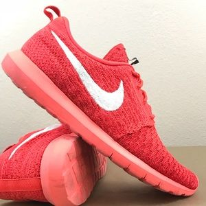 Nike Shoes - Nike Roshe Bright Red Flyknit Men's Running Shoe